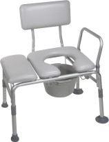 Combination Padded Transfer Bench/Commode