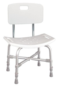 Use a shower chair for bathroom safety