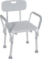 Shower Chair with Back and Padded Arms