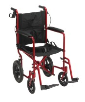 Aluminum Transport Chair with 12″ Rear Wheels