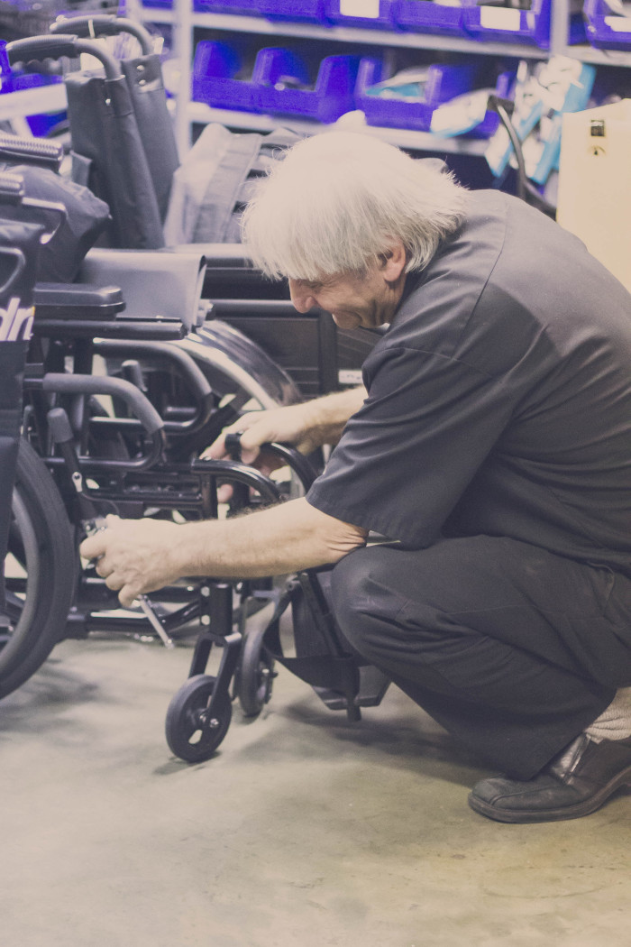 When choosing a wheelchair, ake close measurements to make sure the fit is right.